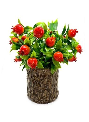 Çiçek Antalya Çiçek Antalya Ida Yapay Mini Nar Ağacı 30 Cm Yeşil